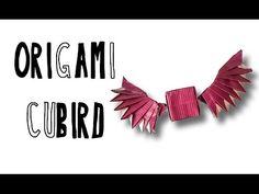 Origami Cubird (Riccardo Foschi) - YouTube Origami Cube, Origami Paper Art, Origami Animals, Lovely Creatures, Origami Design, Origami Tutorial, Youtube, Tutorials, Craft