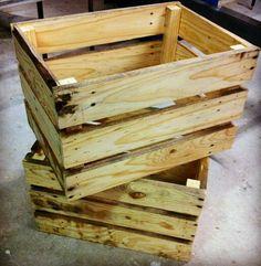 Easy diy pallett crates