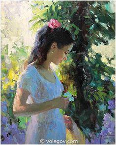 Vladimir Volegov 67. Italian Tenderness (2012) *SOLD* http://www.volegov.com/italian-tenderness-painting/