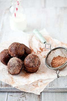Candy Filled Chocolate Cake Doughnuts by tartelette, via Flickr