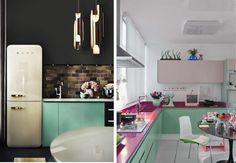 Armário de cozinha verde   Bangalô da Tati