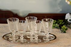 Hey, I found this really awesome Etsy listing at https://www.etsy.com/listing/214597258/set-of-5-paneled-cordial-glasses-cordial