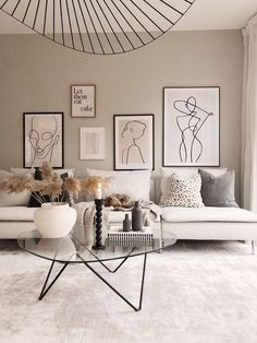 Neutral Home Interior Decor Design Style House Living Room Lounge Room Sofa Artw. - Neutral Home Interior Decor Design Style House Living Room Lounge Room Sofa Artwork - Scandi Living Room, Living Room Lounge, Living Room Interior, Home Interior, Home Living Room, Living Room Designs, Living Room Furniture, Living Room With Carpet, Scandinavian Living Rooms
