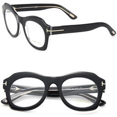Tom Ford Eyewear Round Geometric Optical Glasses ($430) ❤ liked on Polyvore featuring accessories, eyewear, eyeglasses, apparel & accessories, black, clear glasses, black clear glasses, round lens glasses, round eyeglasses and tom ford eyewear