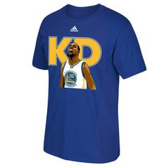 """Golden State Warriors adidas Kevin Durant #35 """"KD"""" Short Sleeve Tee - Royal"""