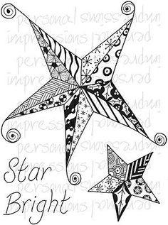 Zendoodles-Estrella-Brillante-listo-para-ir-Navidad-zentangle-zentangling-patron-de-estrellas