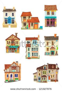 set of facades - Bristol - cartoon by iralu, via ShutterStock