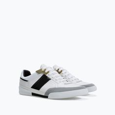 ZARA - MAN - WHITE TRAINERS  Wishlist before 2015!!!!
