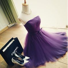 Cheap Bridesmaid Dresses, Buy Directly from China Suppliers:        Hot Sale A Line Pleats Tulle Purple Bridesmaid Dresses Short Wedding Party Dress R059   Occasion: Prom, Wed