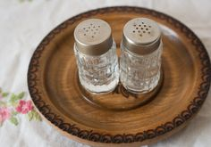 Vintage French Glass Salt & Pepper Shakers by CallalooSoupVintage, $7.00