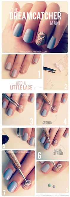 TUTORIAL – Dreamcatcher Nail Art #nails #beauty #woman