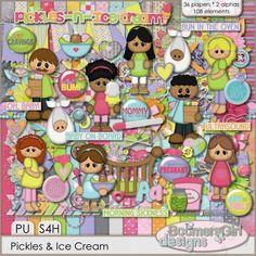 "BoomersGirl Designs: ""Pickles & Ice Cream"" Digital Kit"