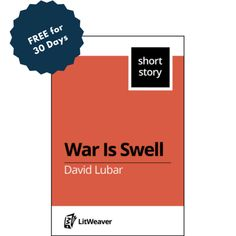 """October's Favorite LitWeaver Author is David Lubar. """"War Is Swell"""" will be FREE in the LitWeaver library for 30 days starting today! #DavidLubar https://www.litweaver.com/contents/943844444"""