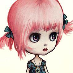 Pinky Paperdoll - Full Color Blythe la poupée de papier art - par Mab Graves