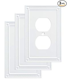 """Franklin Brass W35059V-PW-C Classic Beaded Single Duplex Wall Plate/Switch Plate/Cover (3 Pack), Whiteby Franklin Brass4.6 out of 5 stars 218 customer reviews 