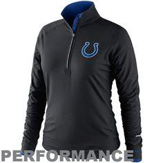 Nike Indianapolis Colts Ladies Conversion Half Zip Performance Jacket - Black