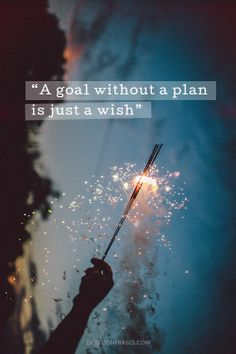 A goal without a plan is just a wish #quotes #frases #EnInglés