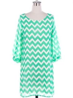 Spring Chevron Shift Dress in Mint - $39.99 : FashionCupcake, Designer Clothing, Accessories, and Gifts