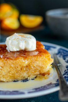 Orange Pie Recipes, Greek Recipes, Greek Dessert Recipes, Desert Recipes, Portokalopita Recipe, Orange Syrup Cake, Baking Recipes, Cake Recipes, Greek Cake