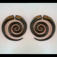 Check out this item in my Etsy shop https://www.etsy.com/listing/268518825/fake-gauge-earrings-wooden-spiral