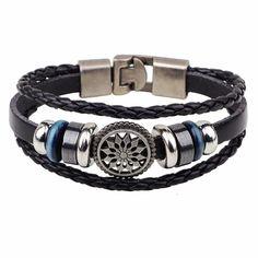 Hand Made Multilayer Braided Bracelets Men Vintage Punk Genuine Leather bracelet &Bangle good gift Bijouterie Accessories Braided Bracelets, Bracelets For Men, Fashion Bracelets, Bangle Bracelets, Leather Bracelets, Bangles, Knit Bracelet, Skull Bracelet, Bracelet Men