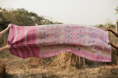 kantha throw from hand and cloth ~ rice field No. 05