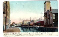 Utica New York Erie Canal Postcard Signs Buildings by OakwoodView