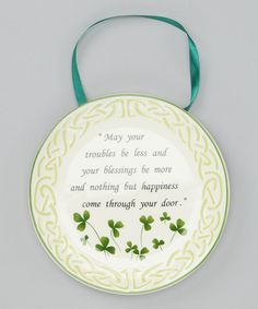 Love this Celtic Blessing Plate by Roman, Inc. on #zulily! #zulilyfinds