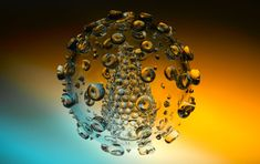 HIV glass sculptures   HIV-glass