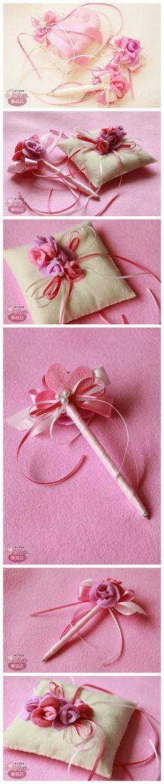 The two sets of ring pillow and pen supporting Ha ha ha ~ ~ ~ to register when used in good  !