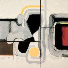Charles Cottet - Polyptique - 1970 - Centre d'enseignement professionnel de Vevey (CEPV) Vevey, Decoration, Centre, Abstract, Artwork, Decor, Summary, Work Of Art, Auguste Rodin Artwork