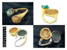 """""""Anastazio--rings"""" by anastazio-kotsopoulos ❤ liked on Polyvore featuring Anastazio"""