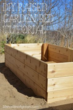 You can't have too may raised garden beds. This DIY tutorial on 33 Shades of Green uses cedar wood. ll @33shadesofgreen