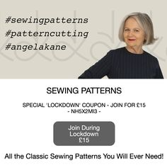 Online Sewing Patterns, Sewing Blocks and Slopers for Flat Pattern Drafting, Dressmaking Lessons. Easy PDF Sewing Patterns and Video Tutorials for Beginners Pattern Cutting, Pattern Drafting, Sewing Machines, Pdf Sewing Patterns, Dressmaking, Turning, Coupon, Fabrics, Times