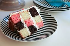 Erin Gardner shows you how to create a show-stopping checkerboard cake masterpiece with the cake pans you already have at home. Creative Cake Decorating, Wilton Cake Decorating, Creative Cakes, Decorating Ideas, Cake Supply Store, Surprise Inside Cake, Checkerboard Cake, Modern Cakes, Cake Supplies
