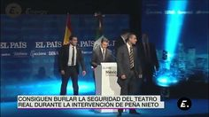 Interrumpen y le gritan asesino a Peña Nieto en España