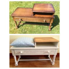 Before and After Telephone Chair Everything Has A Story - Vintage & Upcycled