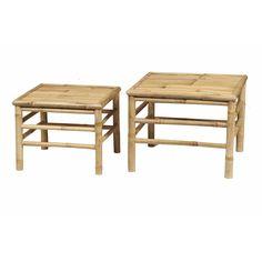 Haveborde i bambus sæt a 2 stk, fra Speedtsberg - Picnic Table, Stool, Furniture, Design, Home Decor, Renovation, Bamboo, Stools, Interior Design