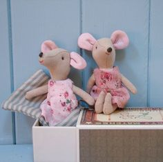 girl mouse in a matchbox bed by seahorse | notonthehighstreet.com