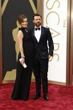 OLIVIA WILDE and JASON SUDEIKIS arrive at the 86th Academy Awards #oscars #oliviawilde