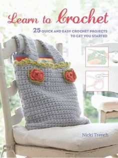 Learn to Crochet starts with a step-by-step techniques section to teach you all the basic stitches and skills. Once you've learned the basics, there are 25 patterns for accessories to wear, items for the home, and bags and covers for the things you carry with you. The specific skills you will need are listed at the beginning of each pattern, so you can double-check that you have mastered them before you start.