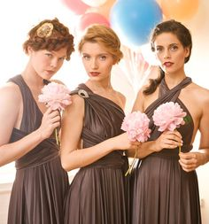 Chocolate Brown Bridesmaid Dresses by Two Birds