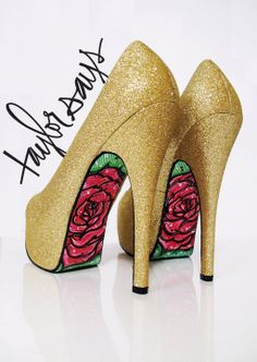 Taylor Says - Gold Glitter shoes - $265.00
