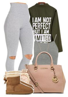 """Falling so fast I'm afraid of you, so I lied to keep you from breaking my heart"" by mindlesspolyvore ❤ liked on Polyvore featuring Topshop, Jessica Simpson, MICHAEL Michael Kors, Michael Kors and UGG Australia"