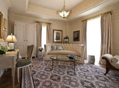 Use this Timeline to Plan a Perfect Honeymoon: Parlor of the Martha Jefferson bridal suite at the Jefferson Hotel in Washington, DC.