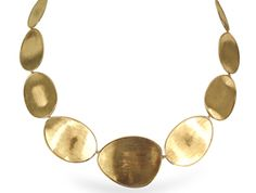 Marco Bicego Lunaria Necklace, Fashioned in 18K Yellow Gold and Measuring 18.75