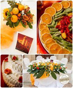 White + Orange #wedding theme, ph by Jos Photographers http://www.brideinitaly.com/2013/10/jos-milazzo.html #italy #sicily