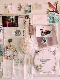 Geninne's inspiration board - so lovely!  I need to get one up asap.