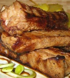 Fokhagymás sertésoldalas Steak, Bacon, Pork, Recipes, Kale Stir Fry, Recipies, Steaks, Ripped Recipes, Pork Chops