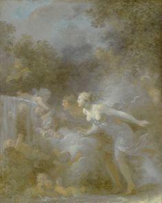Jean-Honoré Fragonard GRASSE 1732 - 1806 PARIS THE FOUNTAIN OF LOVE oil on canvas